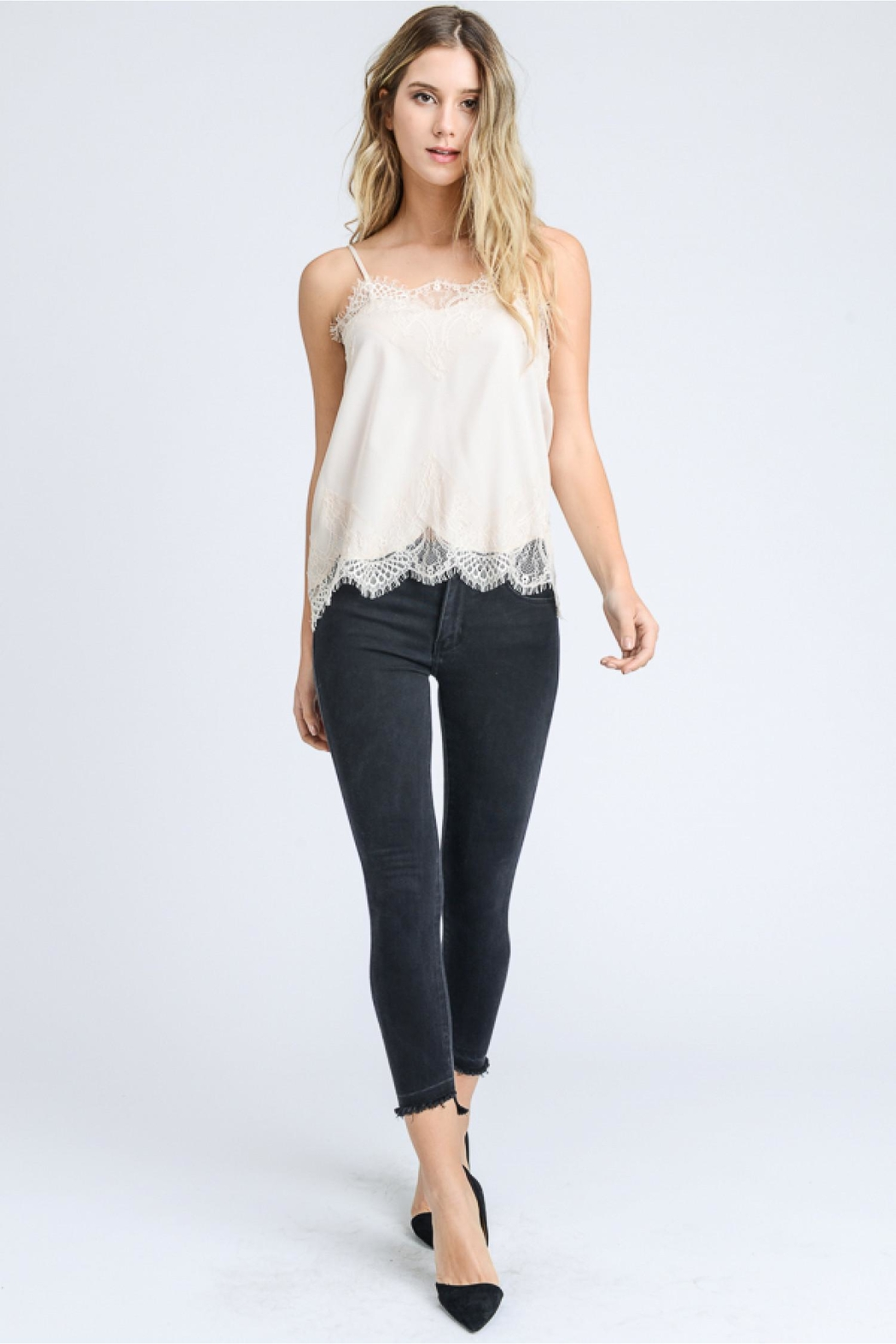 storia Lace Detail Cami - Front Cropped Image