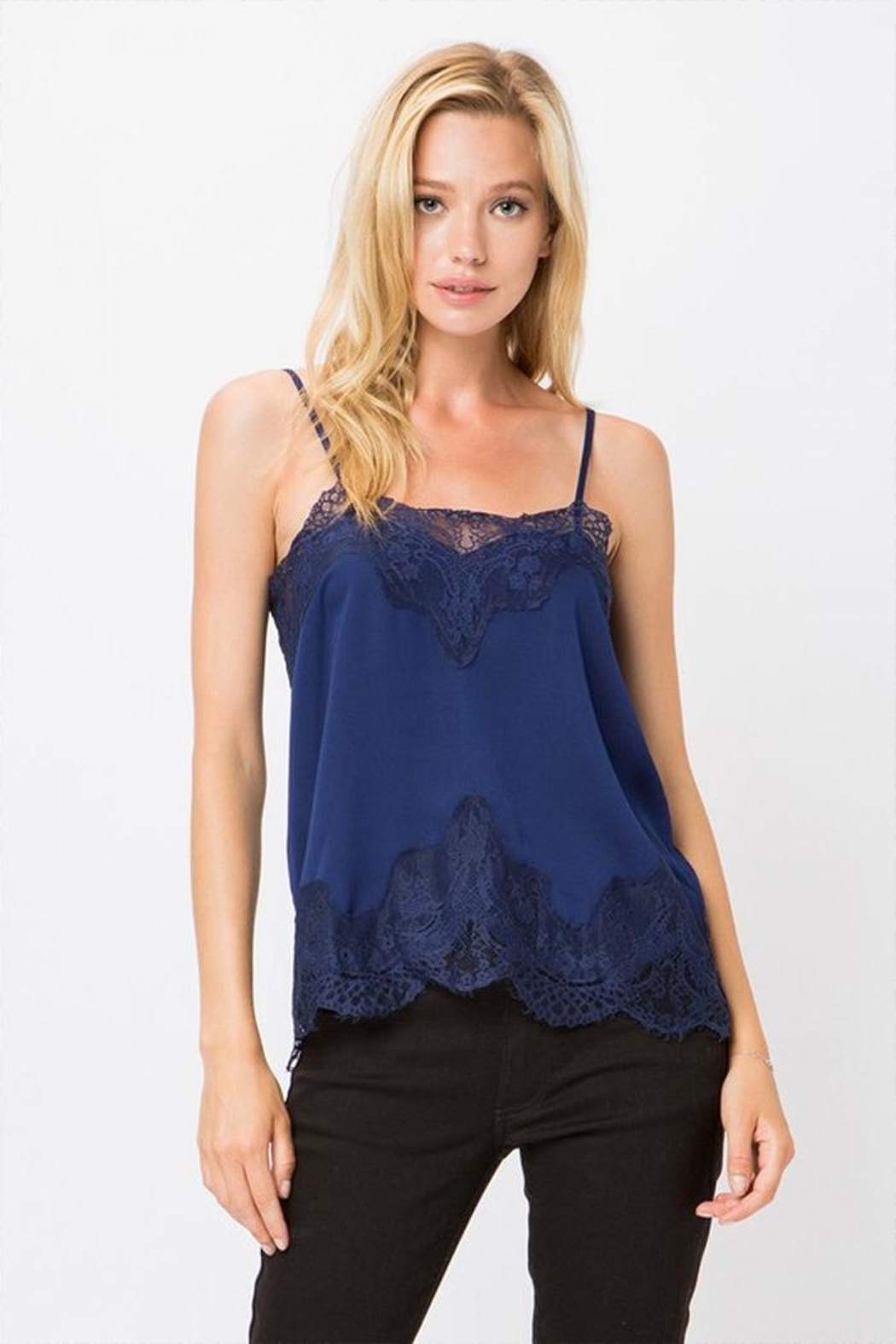 storia Lace Trim Cami - Front Cropped Image