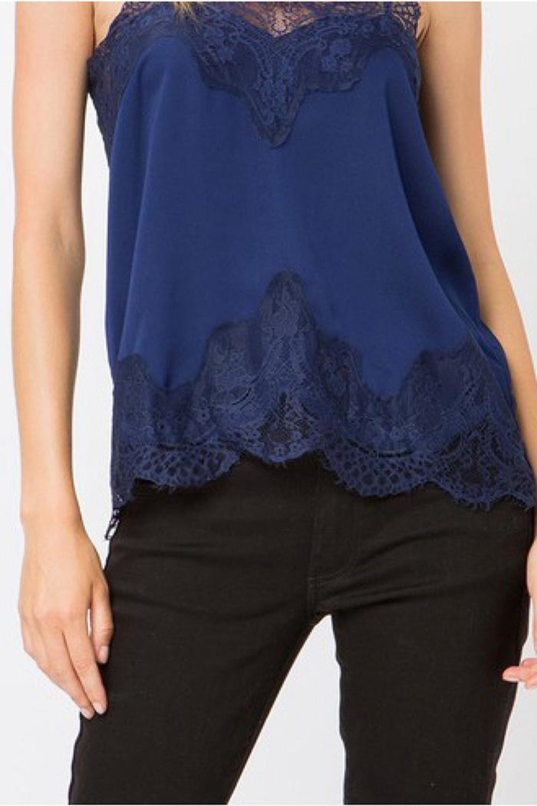 storia Lace Trim Cami - Side Cropped Image