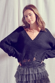 storia Lace Trim Sweater - Product Mini Image