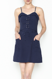 storia Lace Up Dress - Product Mini Image