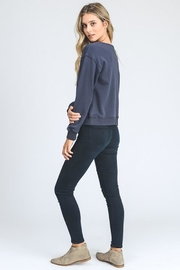 storia Lace Up Sweater - Back cropped
