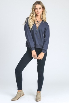 storia Lace Up Sweater - Product List Image