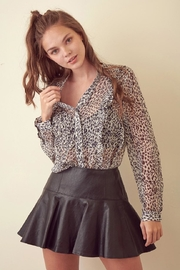 storia Leopard Long-Sleeve Top - Side cropped