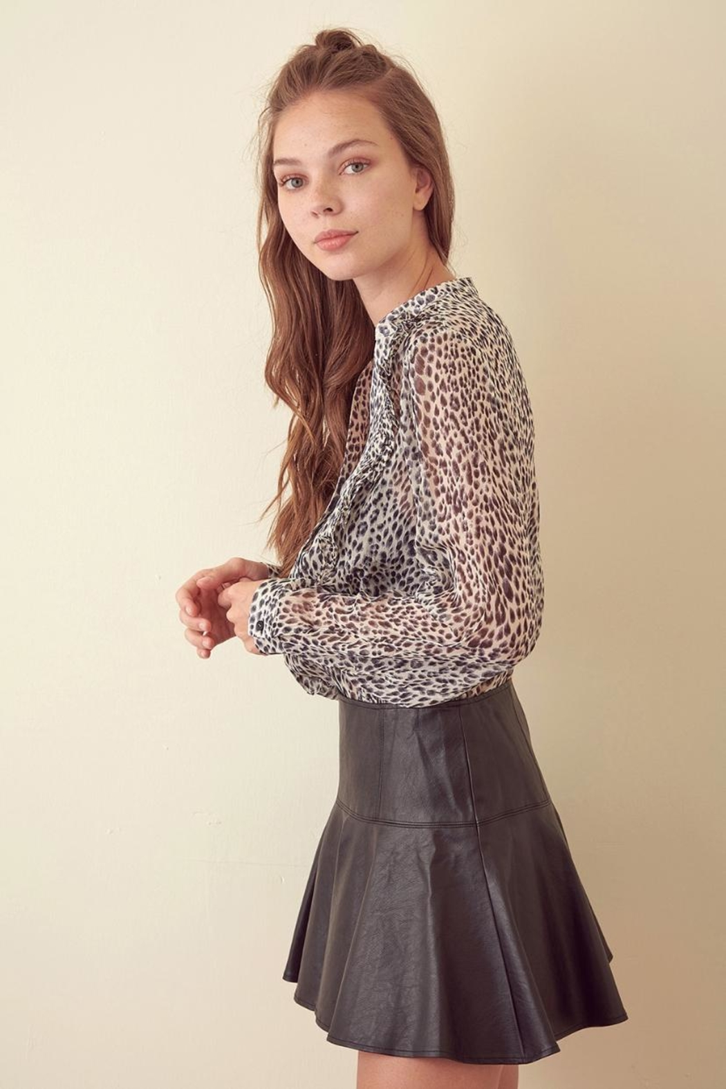 storia Leopard Long-Sleeve Top - Front Full Image