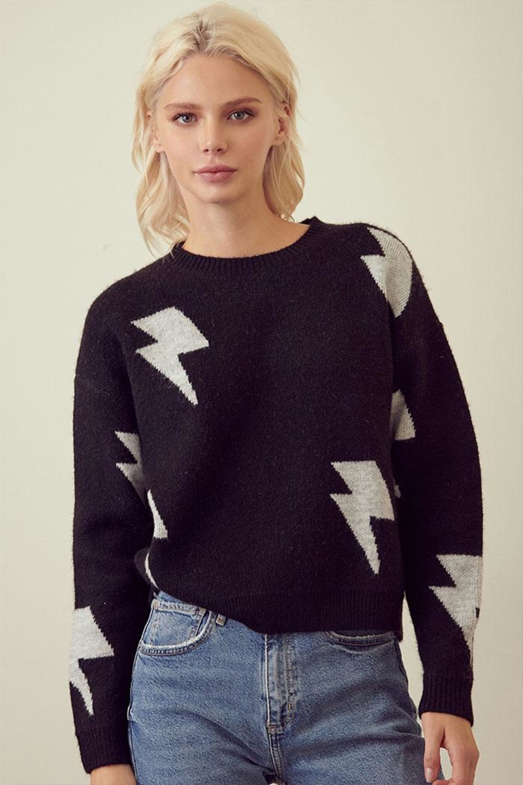 storia Lightning Print Sweater - Main Image