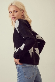 storia Lightning Print Sweater - Back cropped