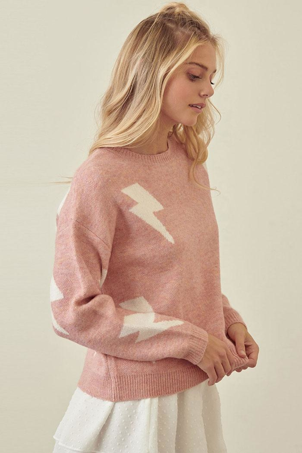 storia Lightning Print Sweater - Front Full Image