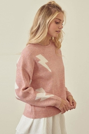 storia Lightning Print Sweater - Front full body