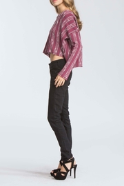 storia Maroon High Low Swetaer - Side cropped