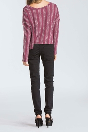 storia Maroon High Low Swetaer - Front full body