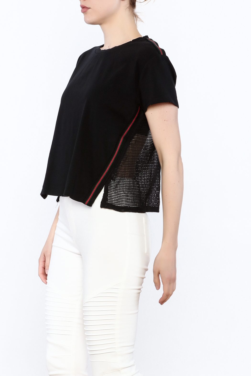 storia Mesh Back Top - Front Cropped Image