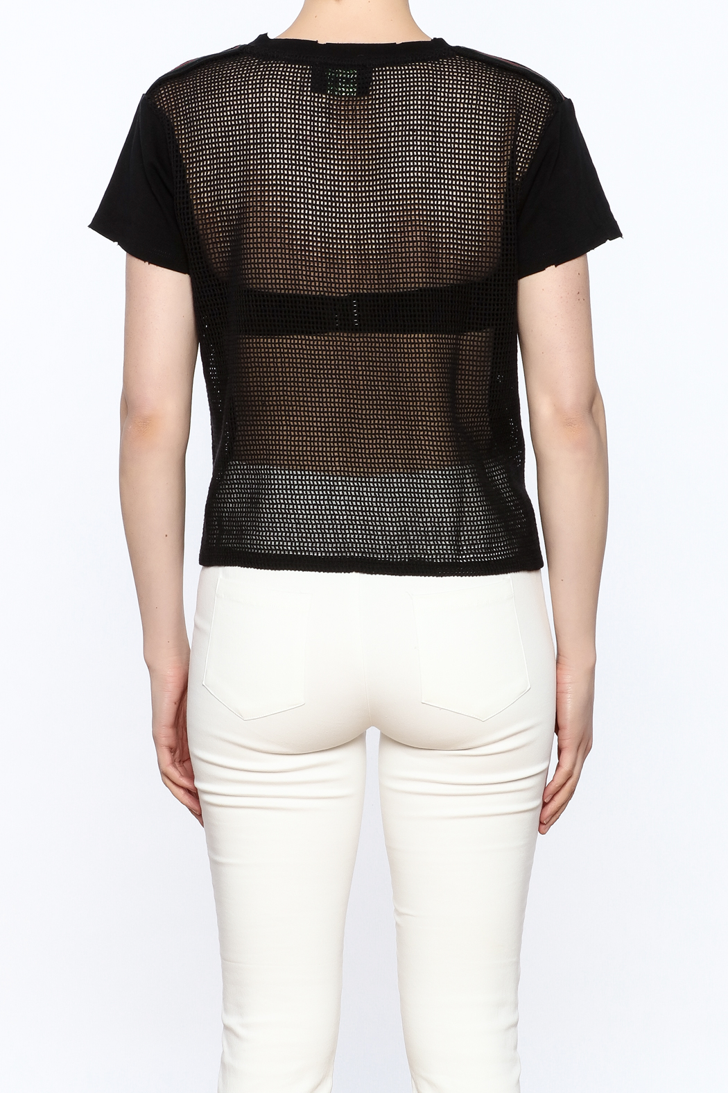 storia Mesh Back Top - Back Cropped Image