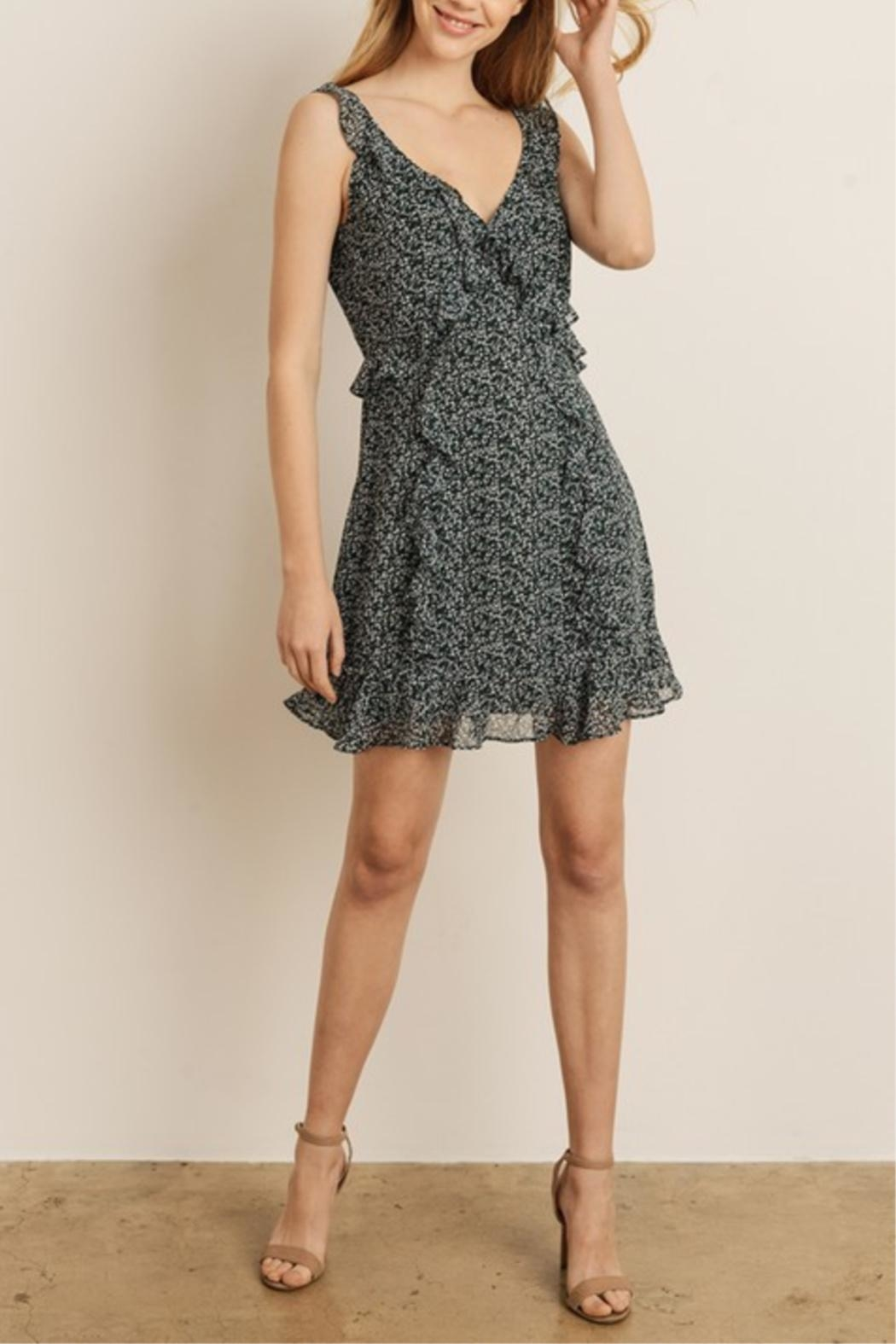 storia Mini-Floral Ruffle Dress - Side Cropped Image