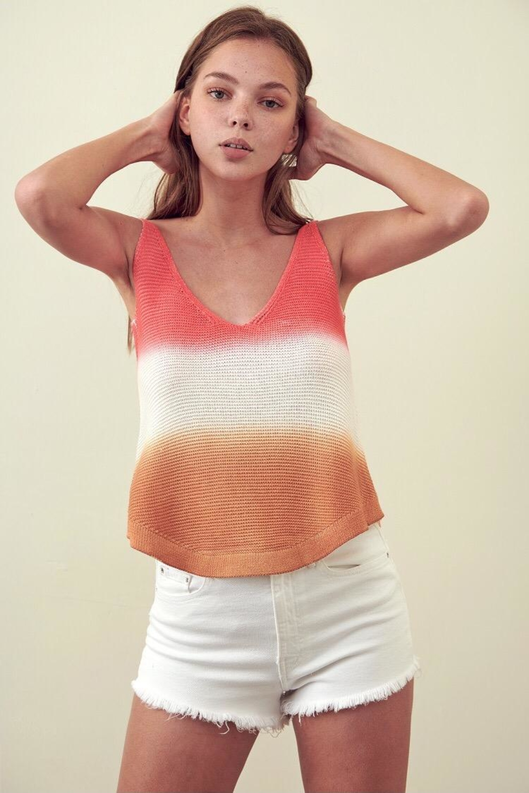 storia Multi-Color Cotton Top - Front Full Image