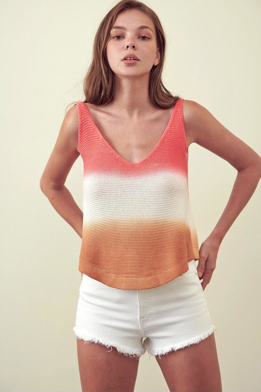storia Multi-Color Cotton Top - Front Cropped Image
