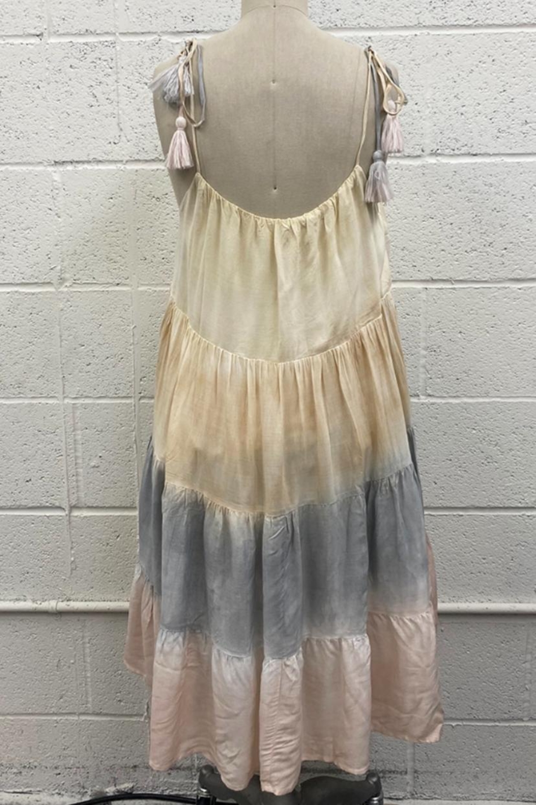 storia Multicolored Tie-Dye Dress - Front Full Image