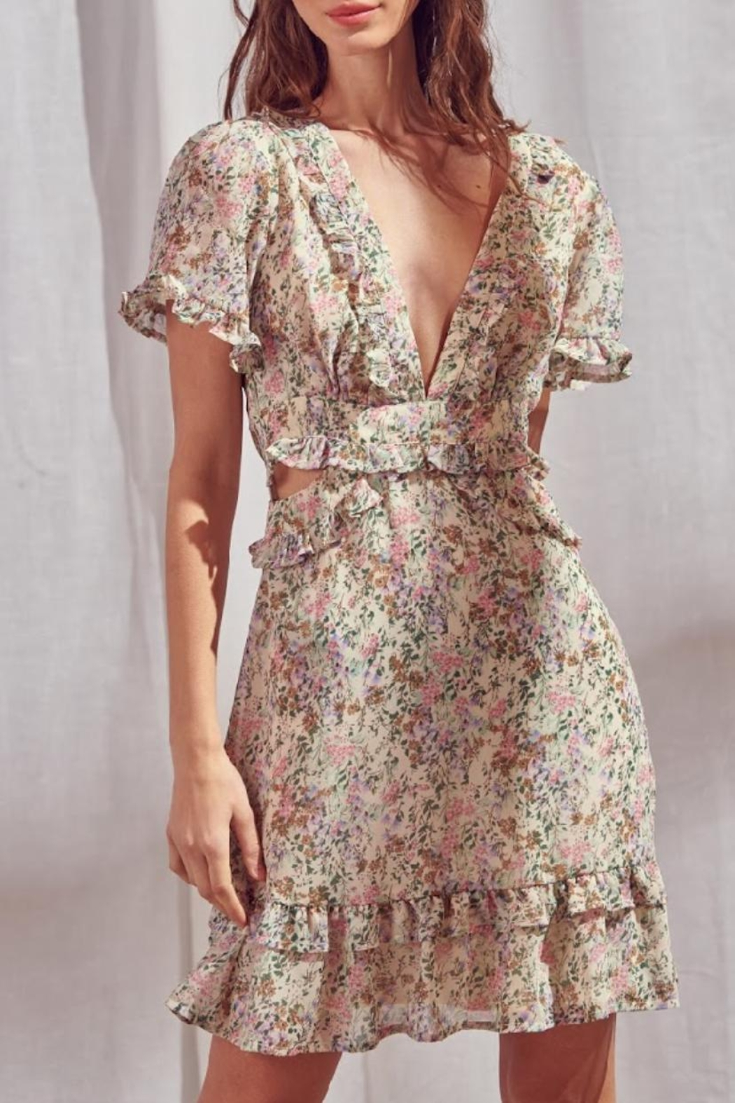 storia Open-Back Floral Dress - Main Image
