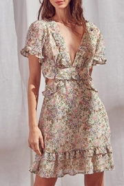 storia Open-Back Floral Dress - Front cropped