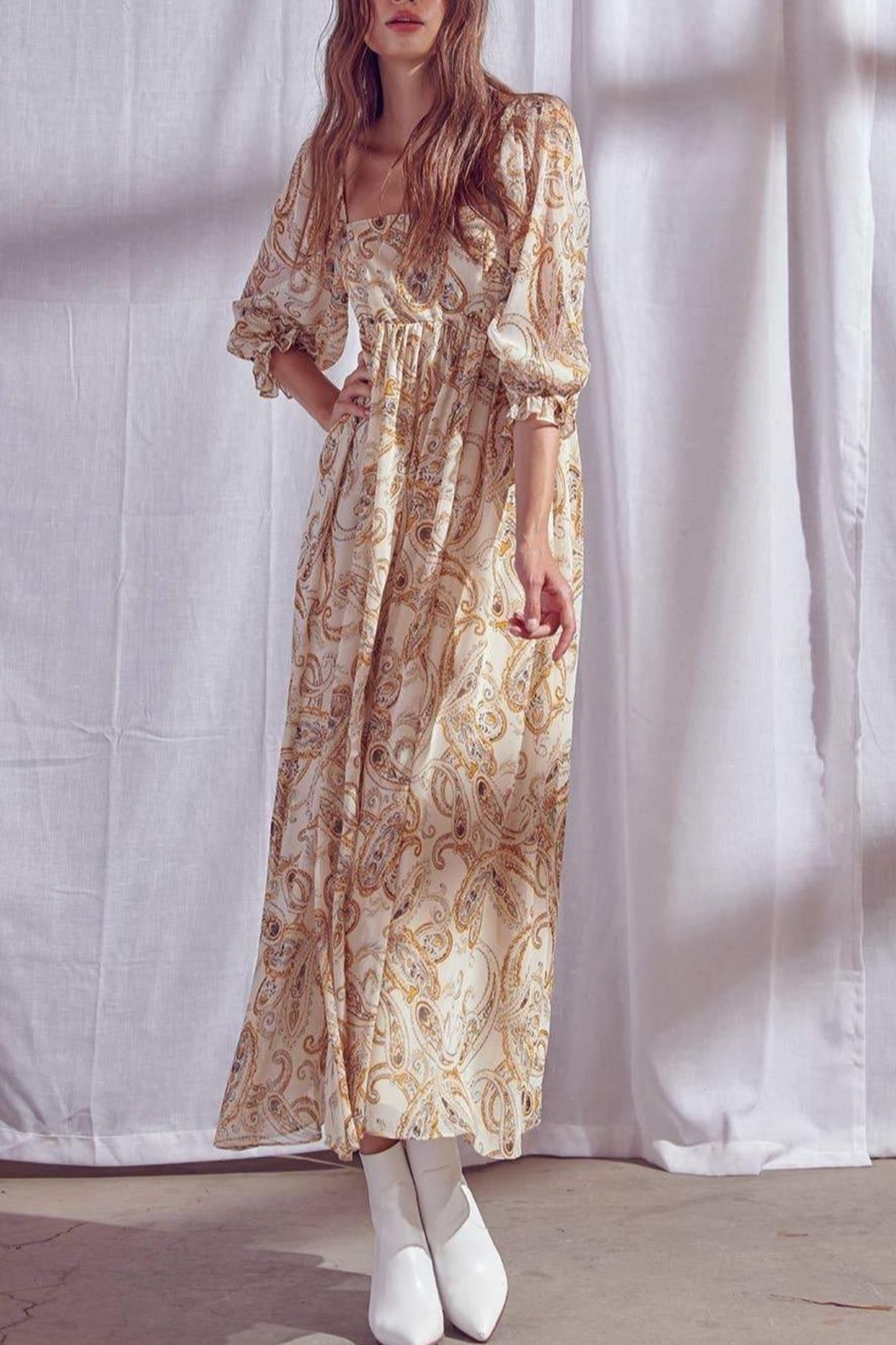 storia Paisley-Print Maxi Dress - Front Full Image