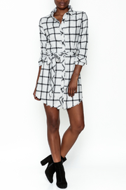storia Plaid Collared Dress - Side cropped
