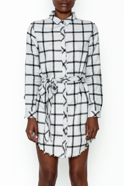 storia Plaid Collared Dress - Front full body