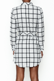 storia Plaid Collared Dress - Back cropped