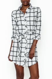storia Plaid Collared Dress - Front cropped