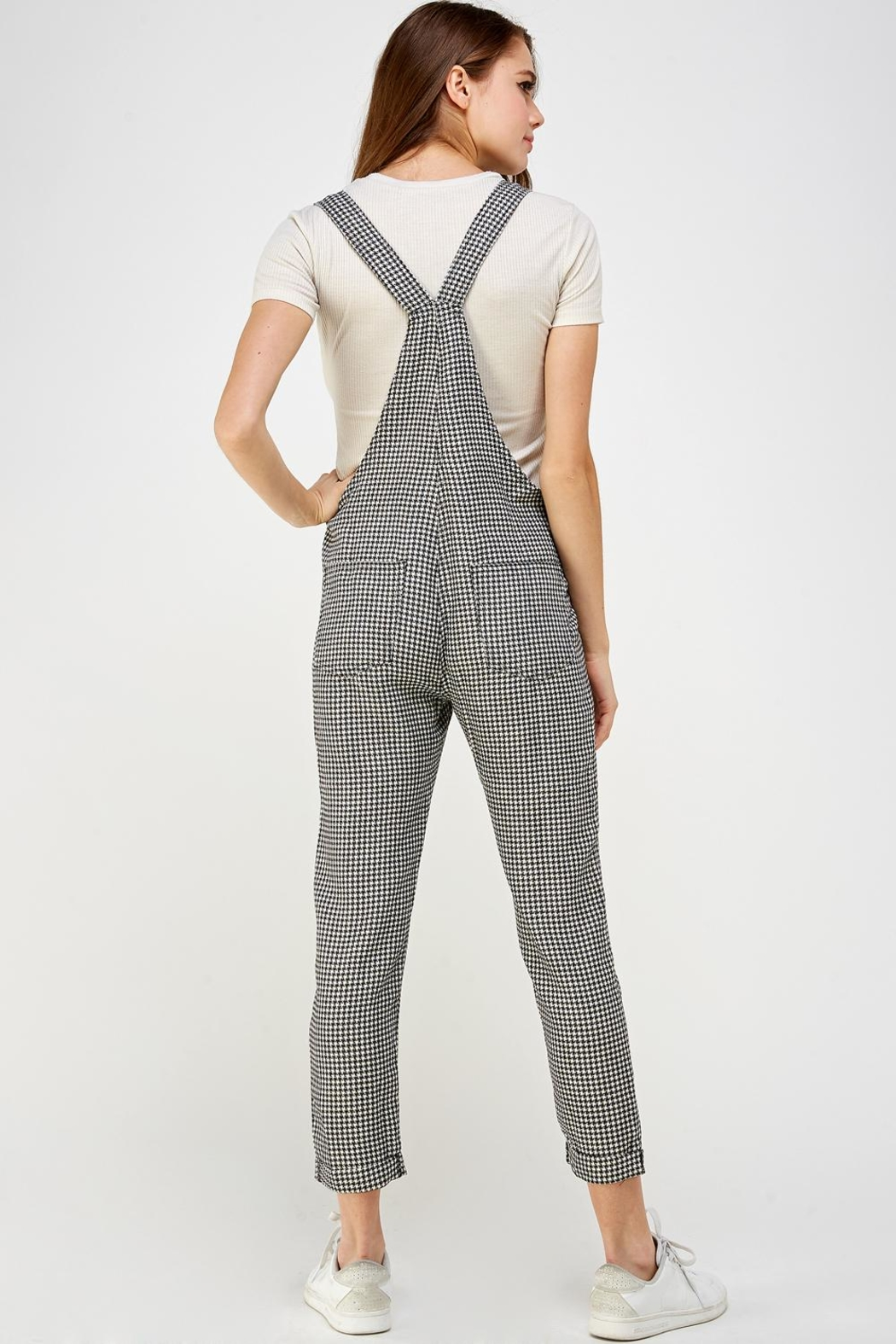 storia Plaid Overall Jumper - Back Cropped Image