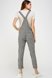 storia Plaid Overall Jumper - Back cropped