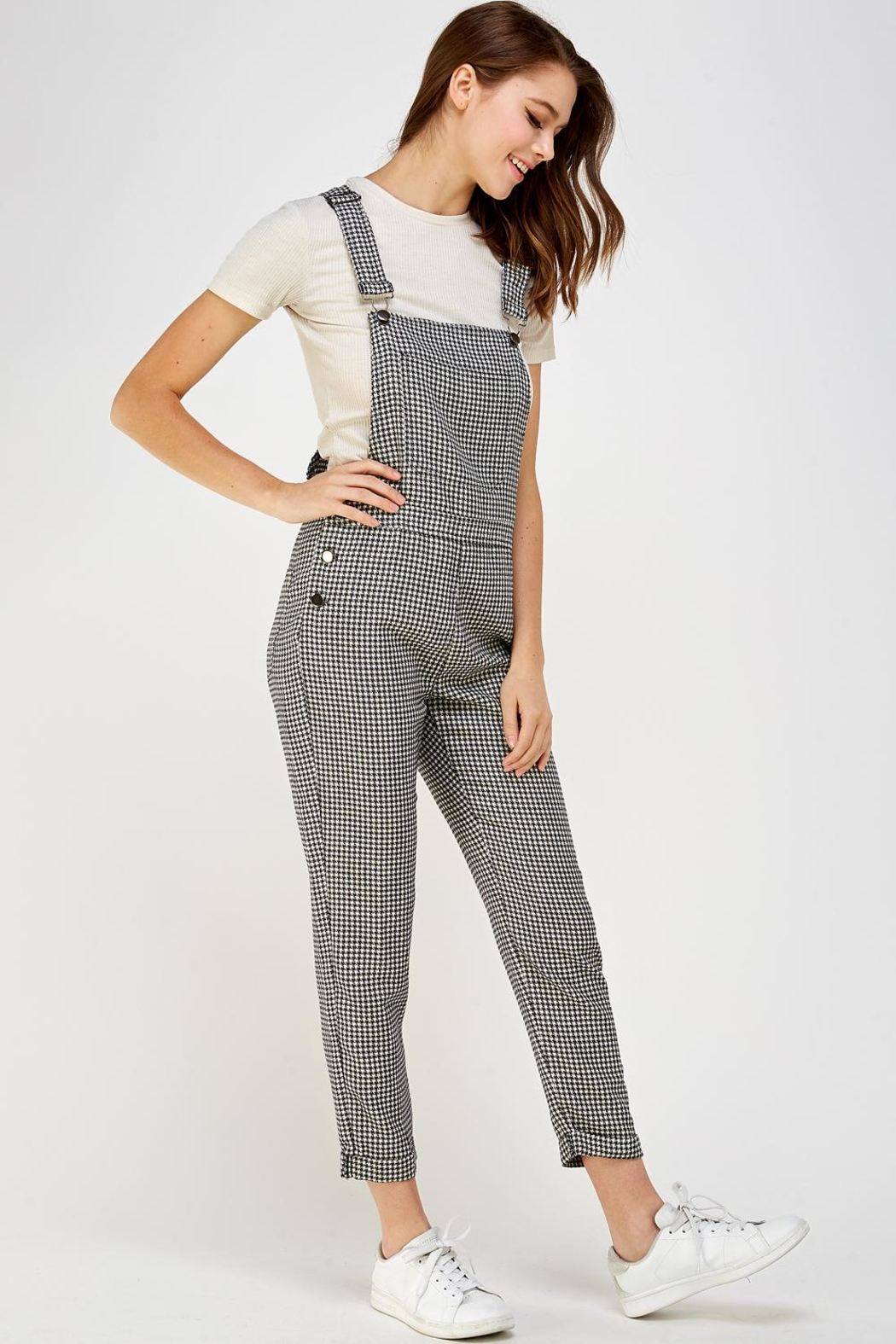storia Plaid Overall Jumper - Front Full Image