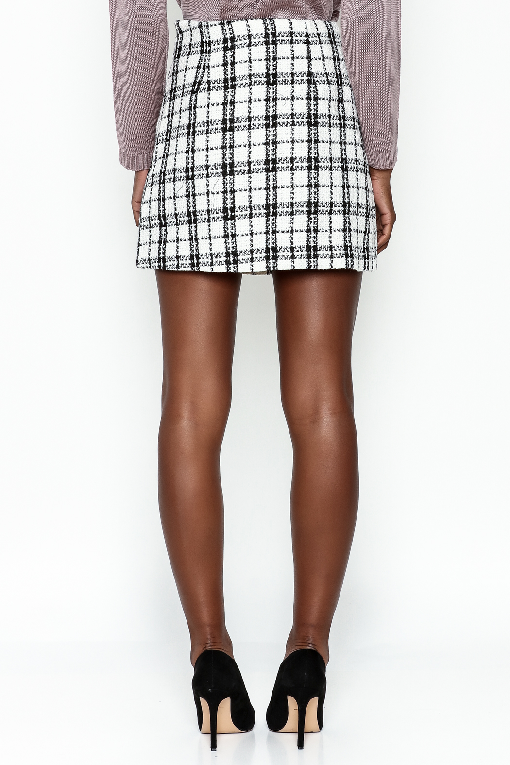 storia Plaid Skirt - Back Cropped Image