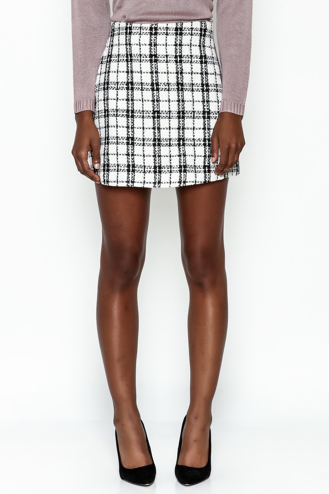 storia Plaid Skirt - Front Full Image