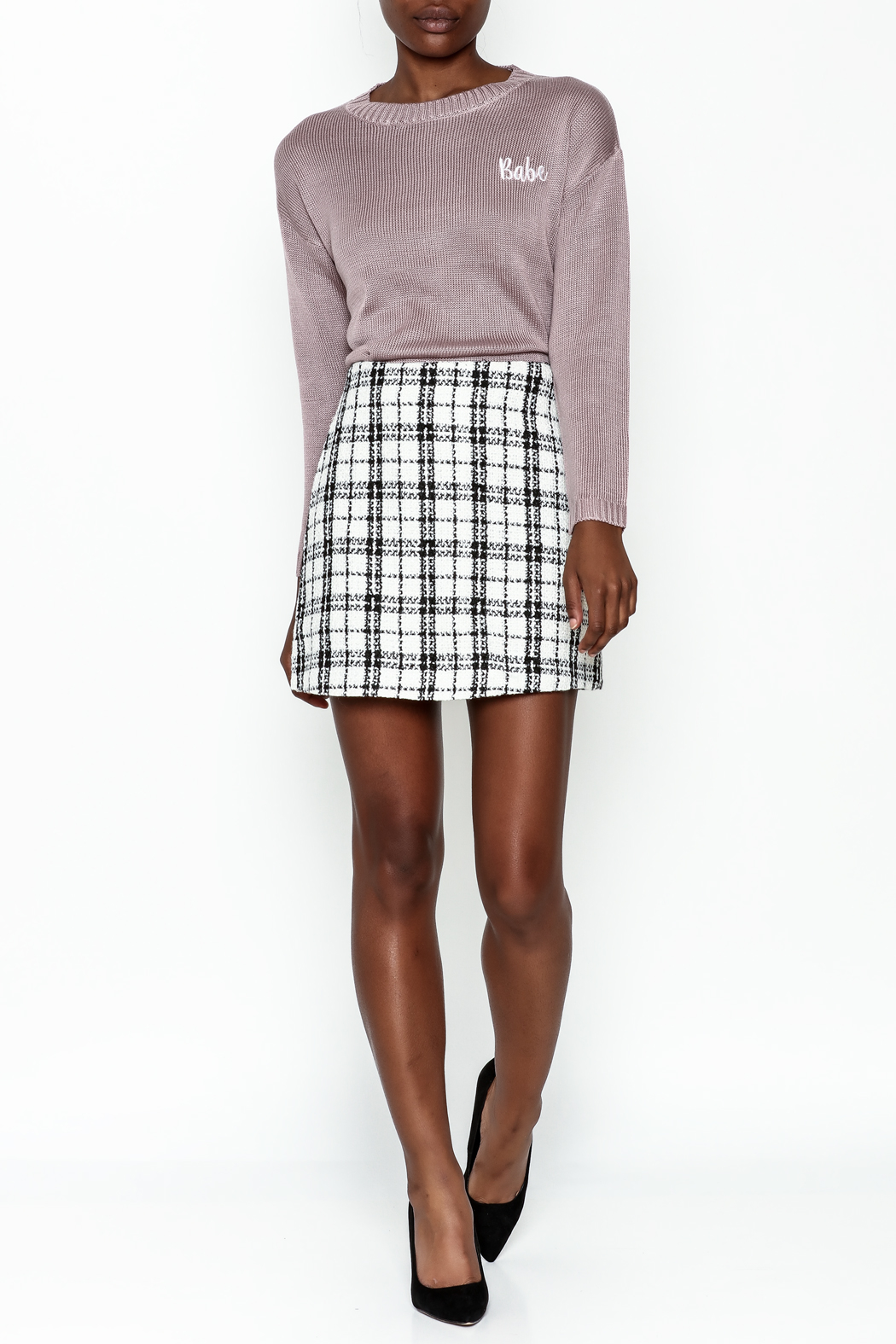 storia Plaid Skirt - Side Cropped Image