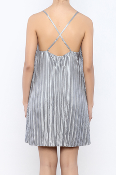 Shoptiques Product: Silver Pleated Swing Dress