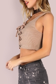 storia Lace Up Crop Top - Back cropped