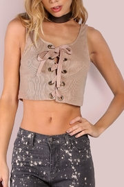 storia Lace Up Crop Top - Product Mini Image