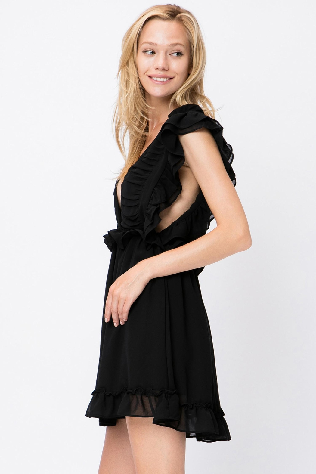 storia Ruffle Detail Dress - Side Cropped Image
