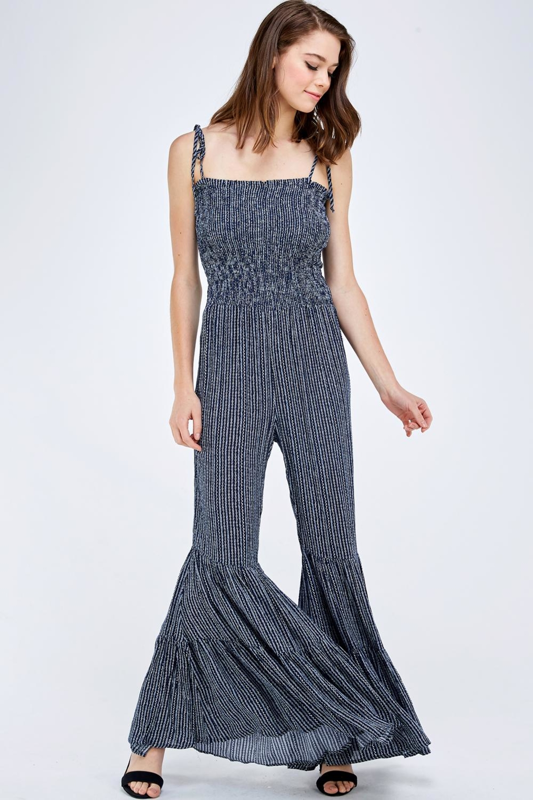 storia Ruffle Leg Jumpsuit - Front Cropped Image