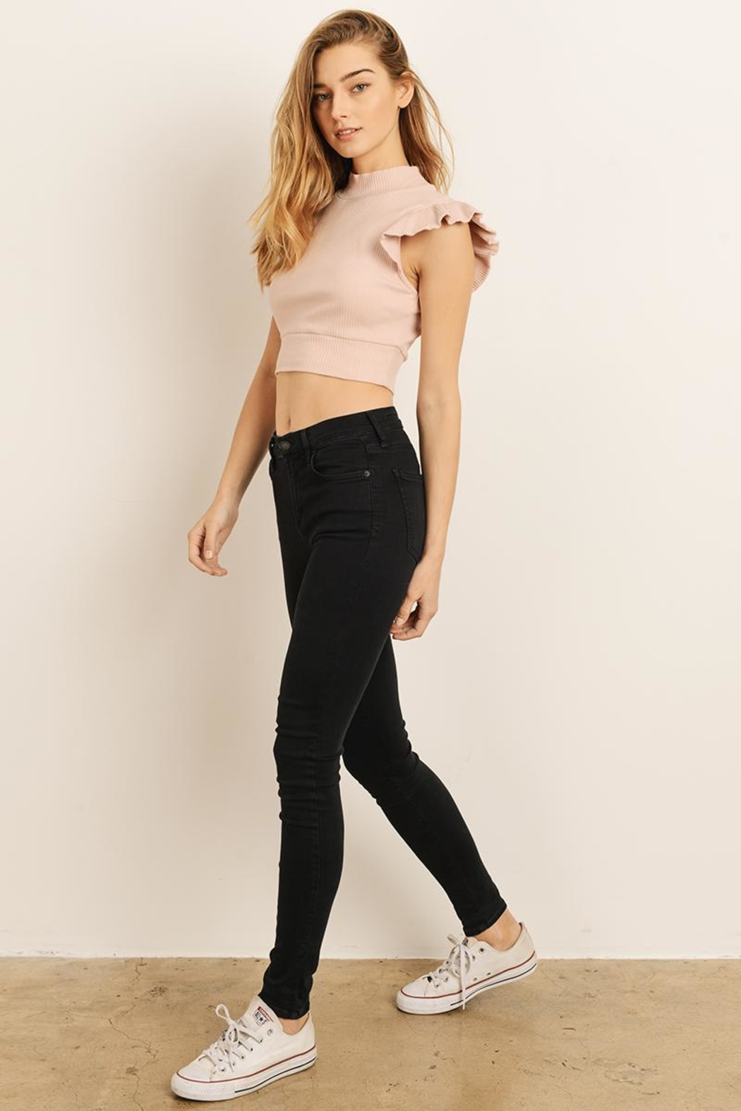 storia Ruffle Sleeve Top - Side Cropped Image