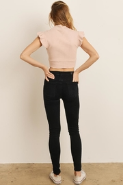 storia Ruffle Sleeve Top - Back cropped