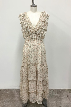 storia Ruffled Floral Dress - Product List Image