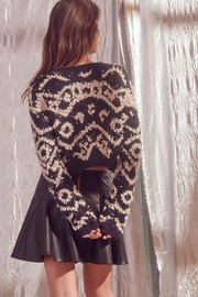 storia Shaggy-Design-Print Knit Sweater - Other