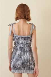 storia Smocked Gingham Mini-Dress - Side cropped