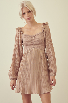 Fit and Flare Dress STORIA SMOCKED PLEATED FIT AND FLARE DRESS - Product List Image