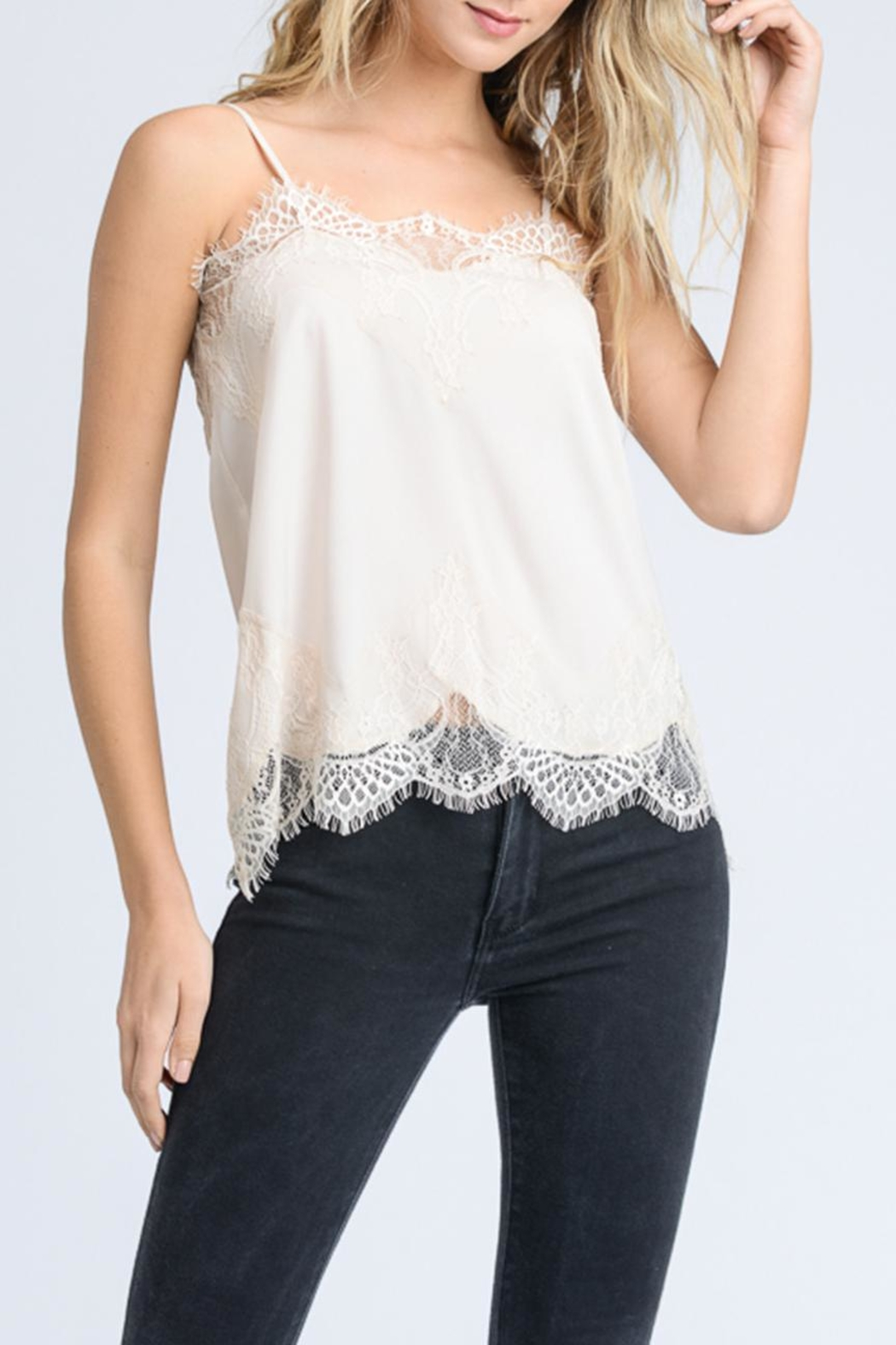storia Solid Lace Cami - Front Cropped Image