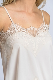 storia Solid Lace Cami - Back cropped