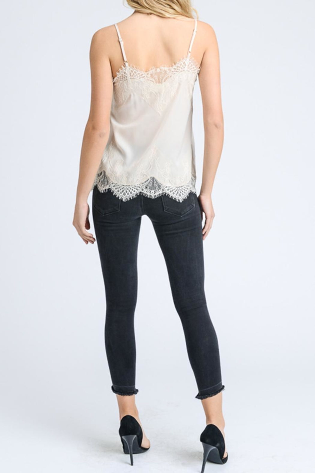 storia Solid Lace Cami - Side Cropped Image
