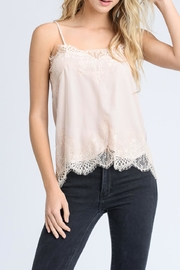 storia Solid Lace Cami - Front cropped