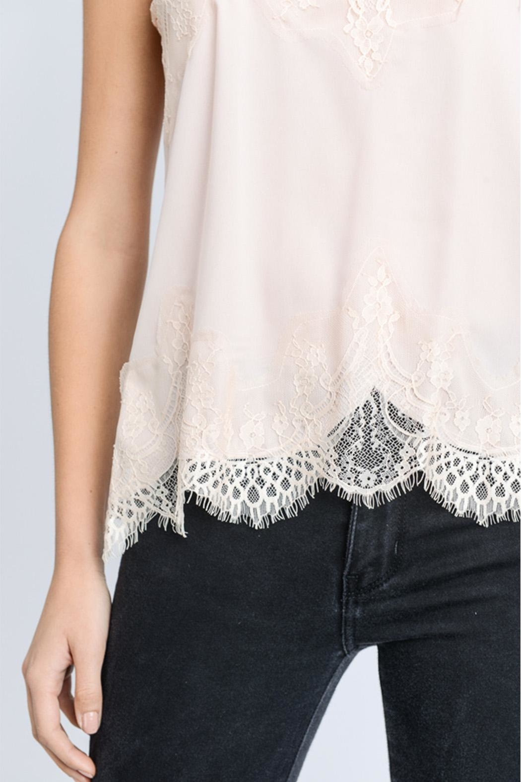 storia Solid Lace Cami - Back Cropped Image
